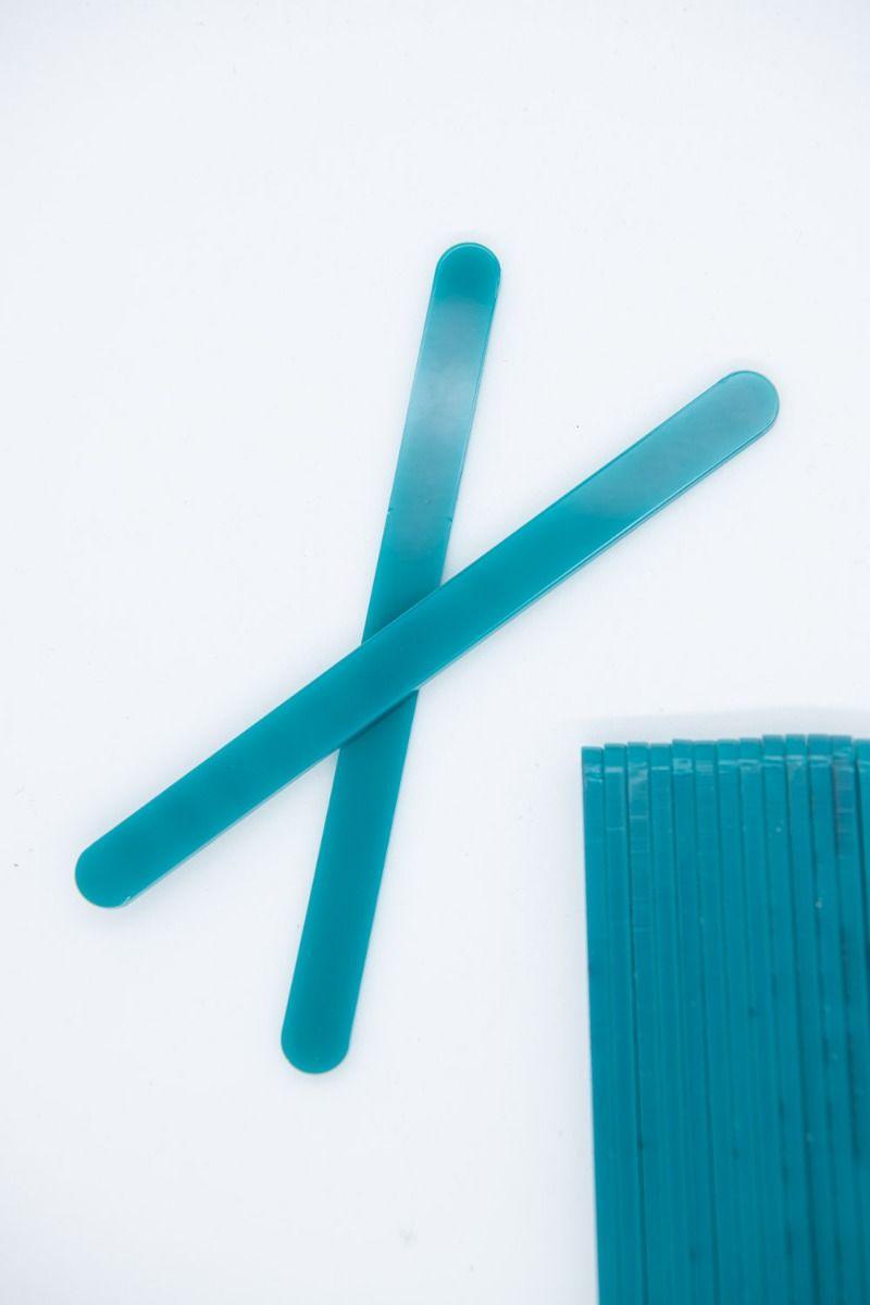 Aqua Blue Acrylic Popsicle Sticks for Cakesicles, Ice Cream Pops, Cake Pops