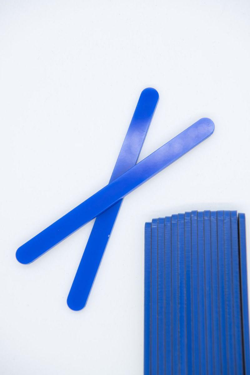Blue Acrylic Popsicle Sticks for Cakesicles, Ice Cream Pops, Cake Pops