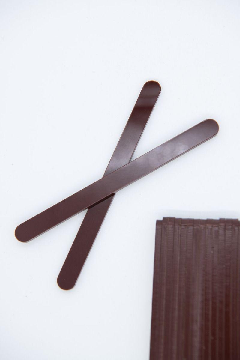 Brown Acrylic Popsicle Sticks for Cakesicles, Glitter Pops, Cake Pops