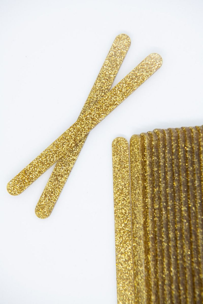 Gold Glitter Acrylic Popsicle Sticks for Cakesicles, Glitter Pops, Cake Pops