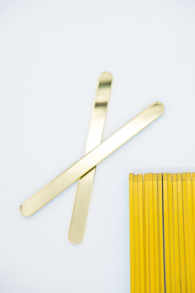 Gold Mirror Acrylic Popsicle Sticks for Cakesicles, Glitter Pops, Cake Pops