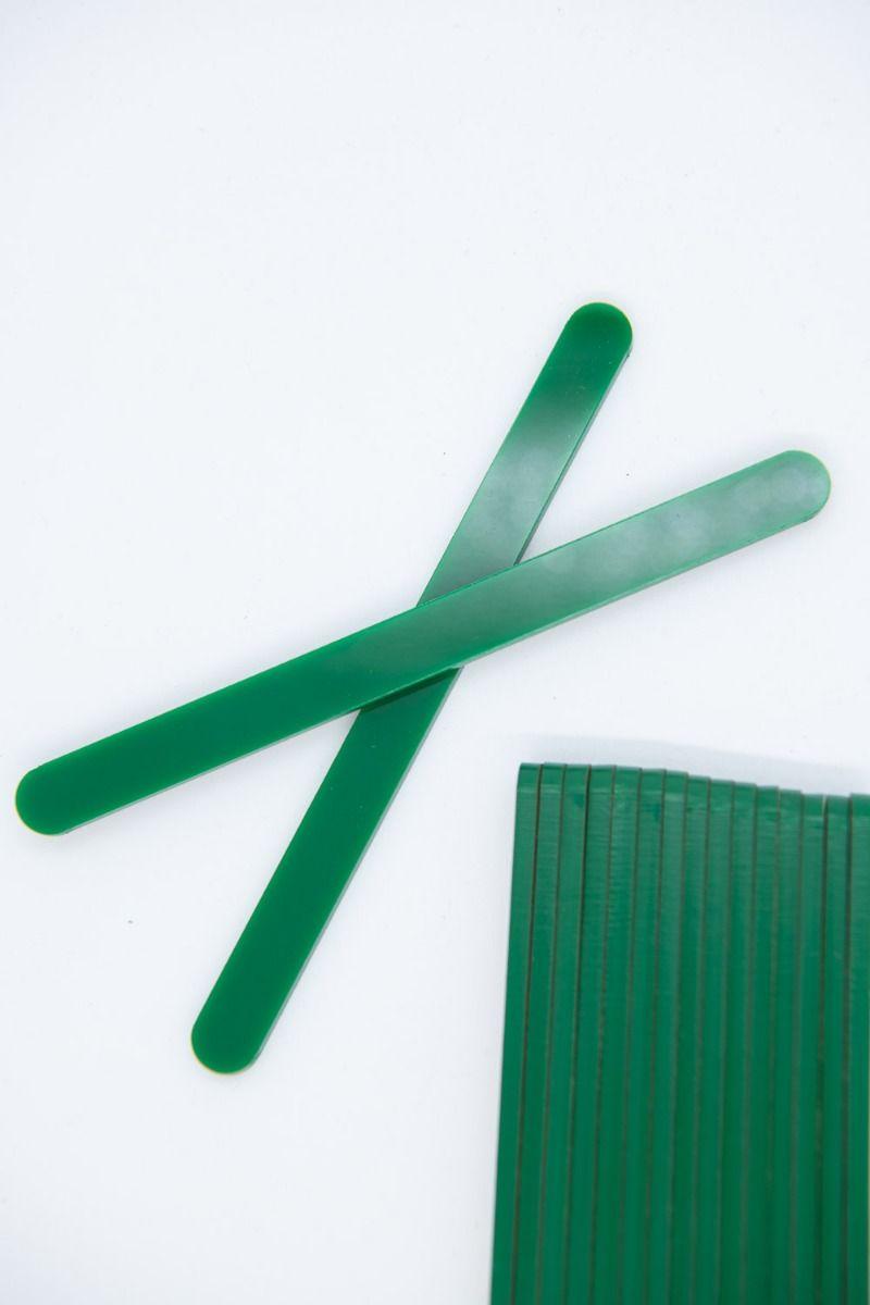 Green Acrylic Popsicle Sticks for Cakesicles, Glitter Pops, Cake Pops