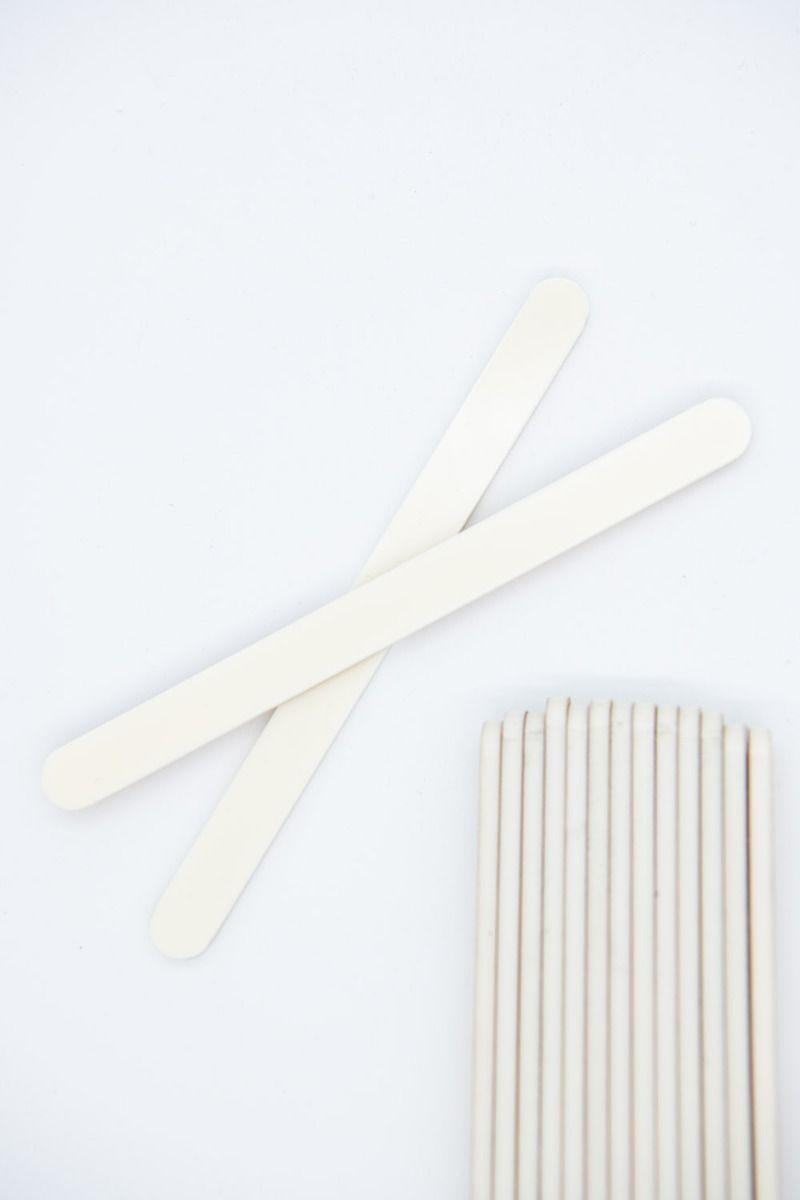 Ivory Acrylic Popsicle Sticks for Cakesicles, Glitter Pops, Cake Pops