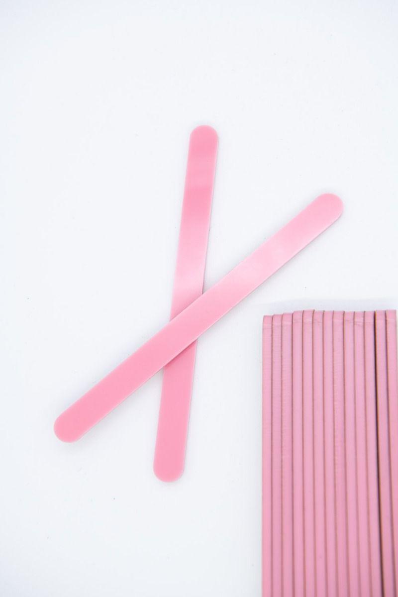 Light Pink Acrylic Popsicle Sticks for Cakesicles, Ice Cream, Glitter Pops, Cake Pops