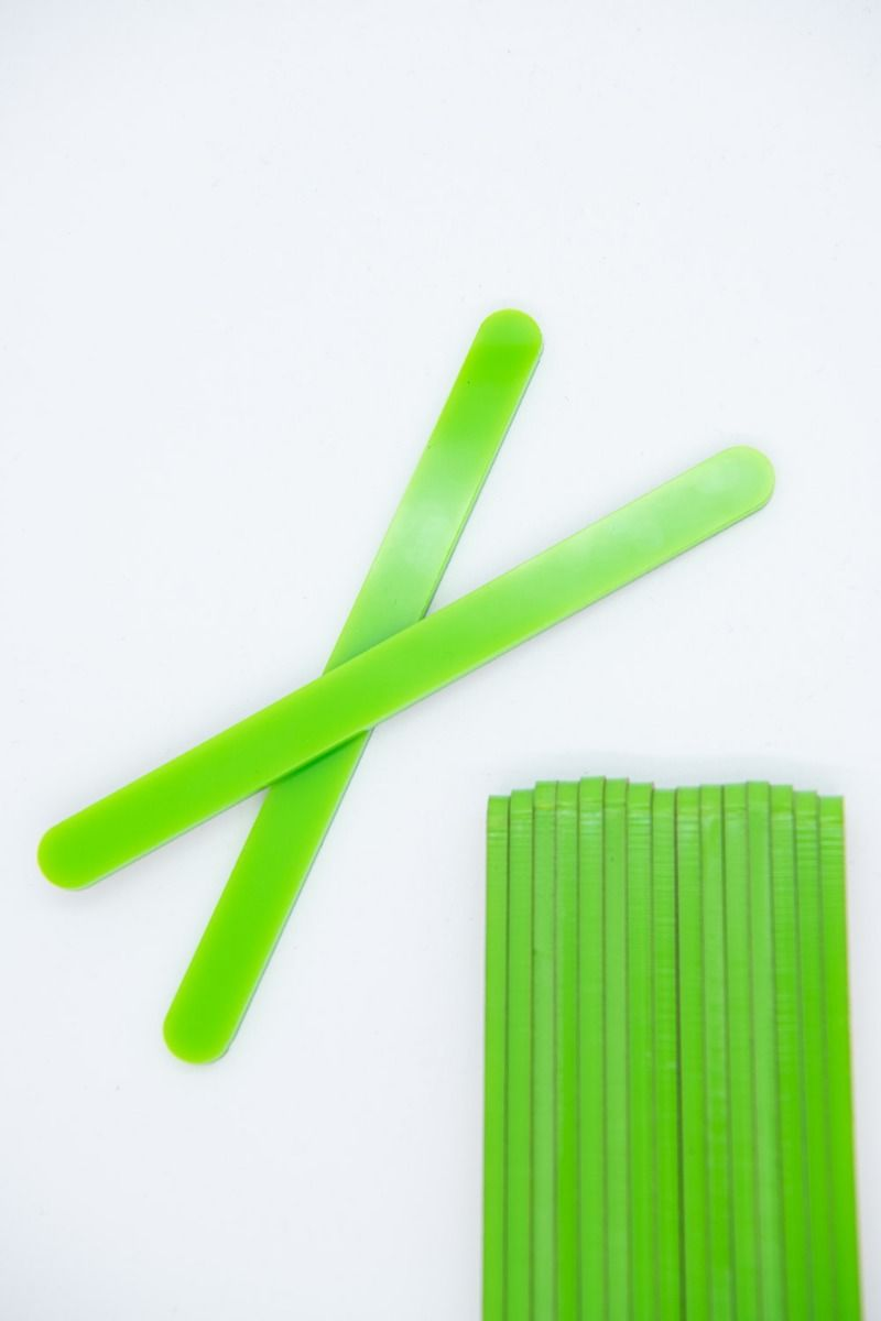 Lime Green Acrylic Popsicle Sticks for Cakesicles, Glitter Pops, Cake Pops