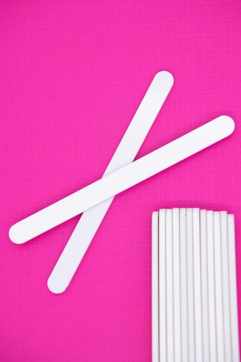 White Acrylic Popsicle Sticks for Cakesicles, Glitter Pops, Cake Pops