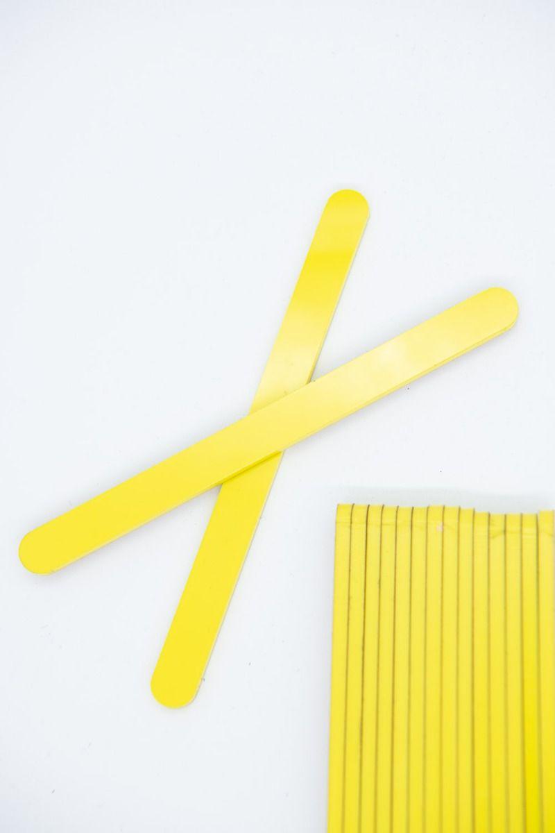 Yellow Acrylic Popsicle Sticks for Cakesicles, Glitter Pops, Cake Pops