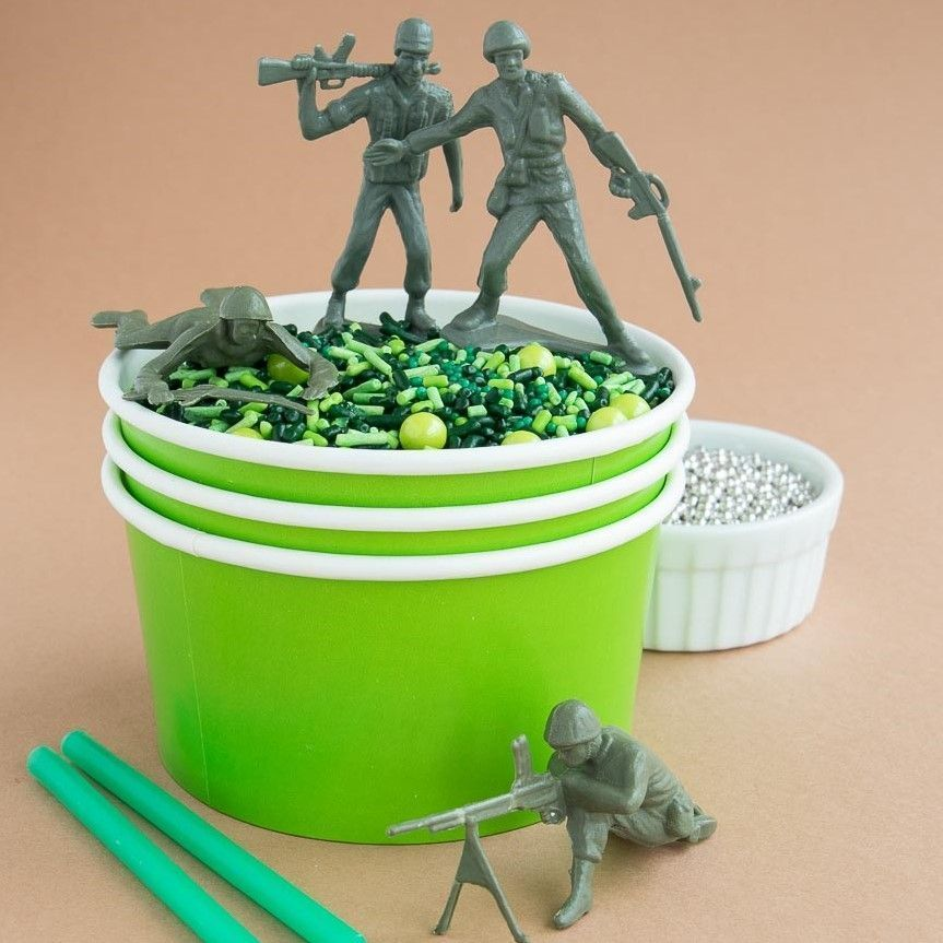 Camo Sprinkles Mix- Camouflage Party Supplies