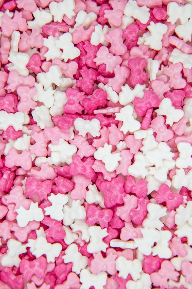 Bow Sprinkles | Shop Hair Bow Candy Sprinkles | Pink Ribbon Candy Bows