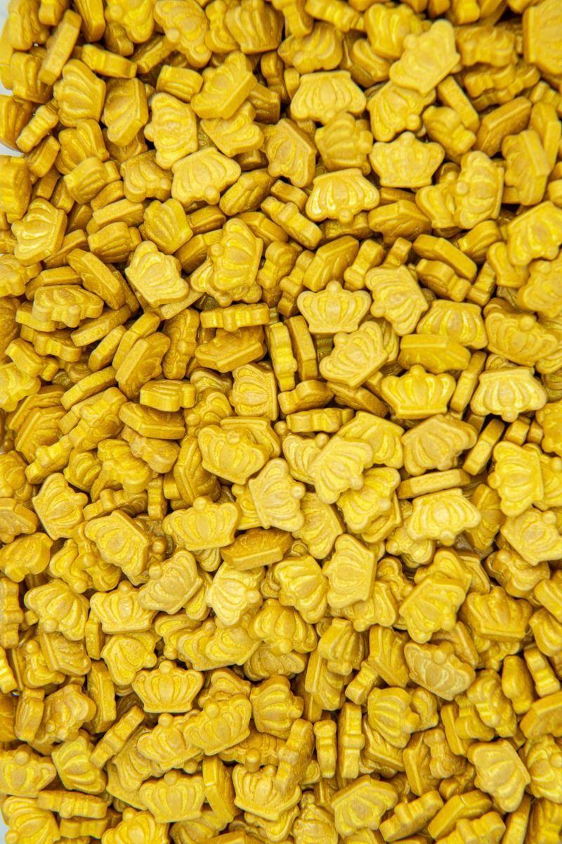 Gold Crown Sprinkles | Shop Gold Crown Candy Sprinkles, Gold Princess Candies