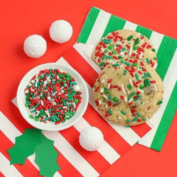 Christmas Sprinkle Cookies - Christmas Sugar Cookies - Christmas Sprinkles