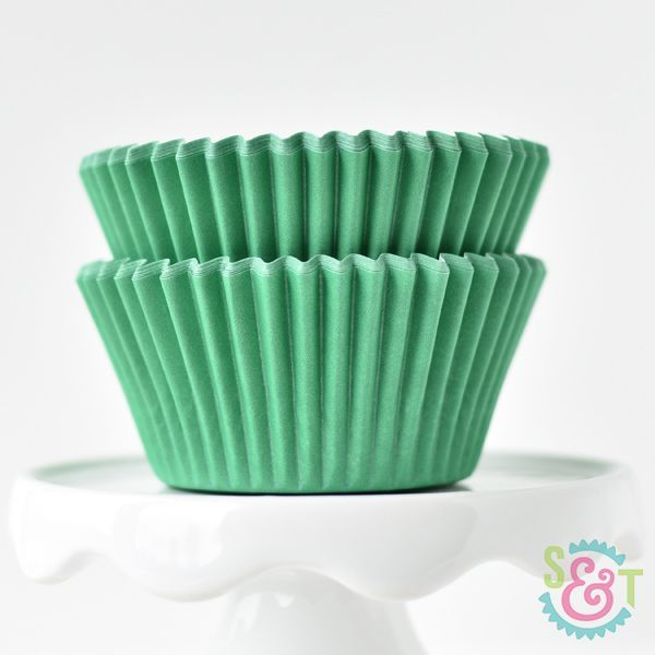 Solid Green Cupcake Liners - Green Baking Cups - Solid Color Cupcake Cups