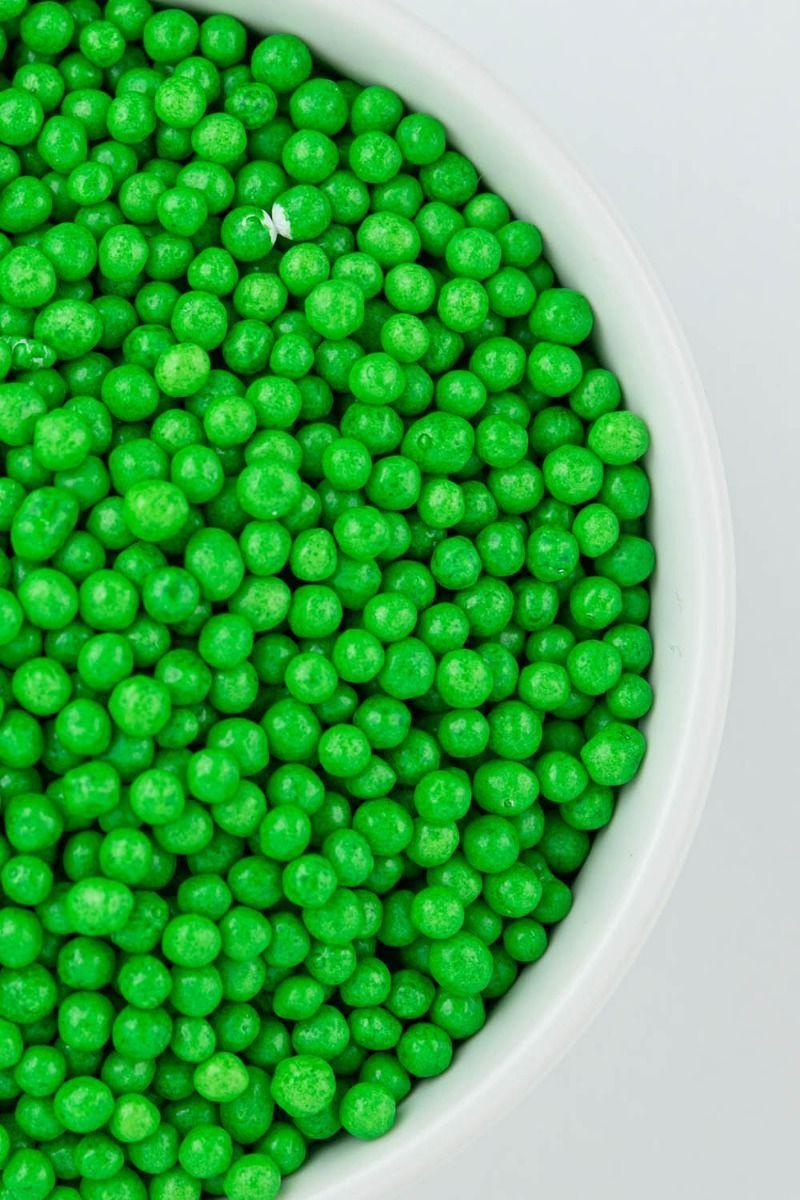 Green Crispy Sprinkles | Green Sprinkle Crispies, Crunchy Sprinkles