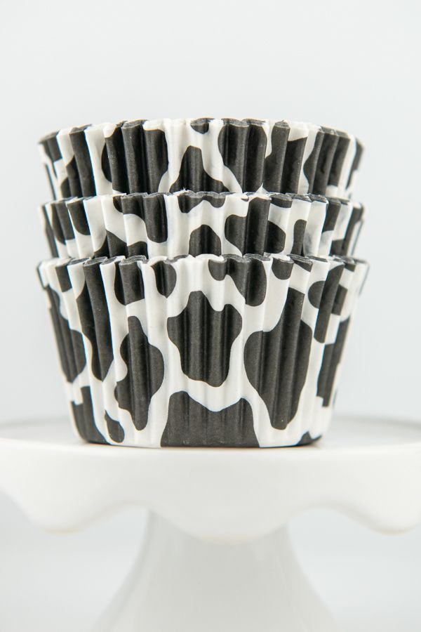 Cow Print Cupcake Liners - Cow Baking Cups - Cow Cupcake Liners