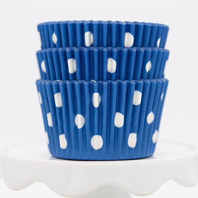 Dot Blue Cupcake Liners | Blue Dot Baking Cups - Polka Dot Cupcake Cups
