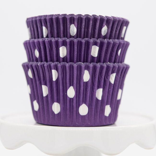 Dot Purple Cupcake Liners | Purple Dot Baking Cups - Polka Dot Cupcake Cups