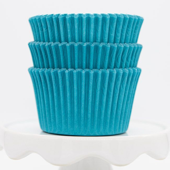 Aqua Cupcake Liners | Aqua Blue Baking Cups - Solid Color Cupcake Cups