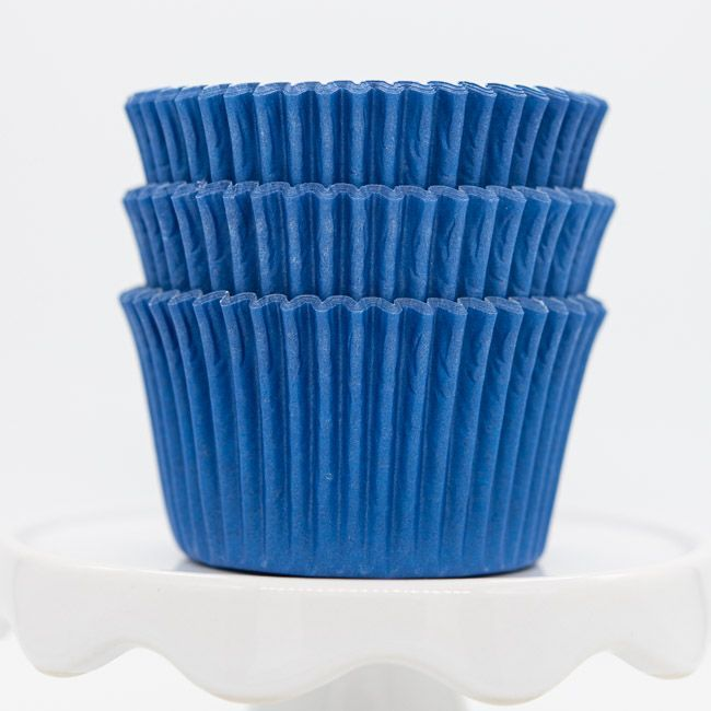 Blue Cupcake Liners | Bulk Blue Baking Cups - Solid Color Cupcake Cups