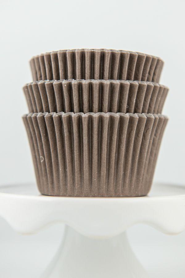 Solid Brown Cupcake Liners - Solid Brown Baking Cups - Bulk Greaseproof Cupcake Liners