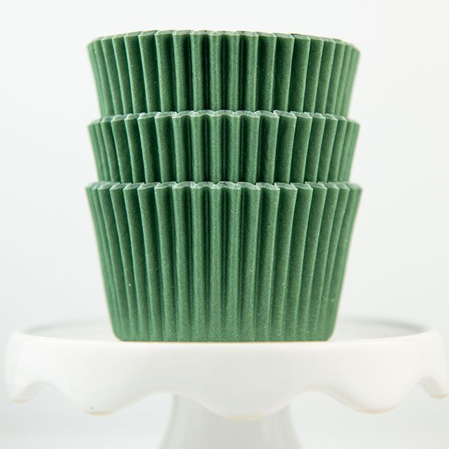 Solid Forest Cupcake Liners - Olive Baking Cups - Solid Cupcake Cups