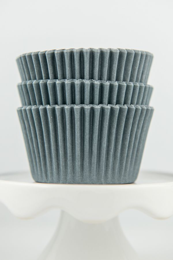 Solid Gray Cupcake Liners - Gray Baking Cups - Solid Color Cupcake Cups - Gray Greaseproof Cupcake Liners