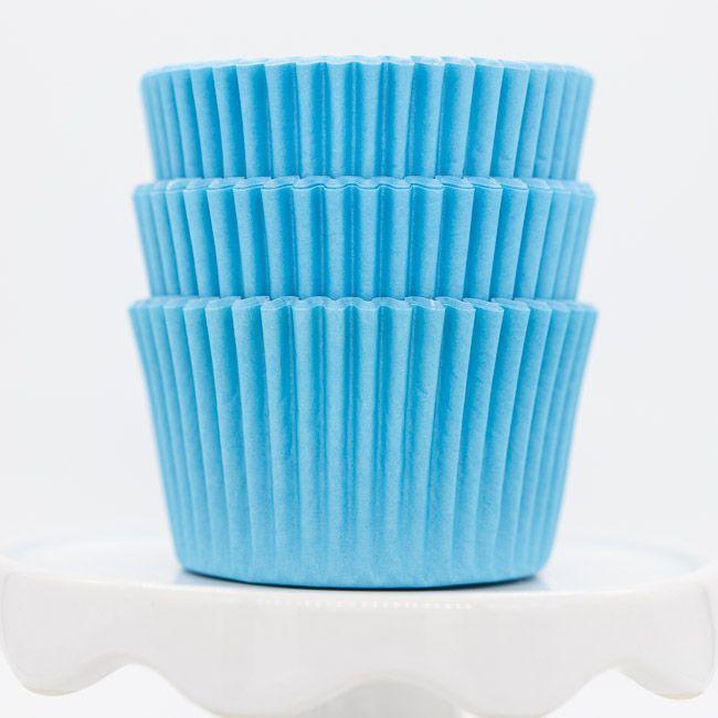 Light Blue Cupcake Liners | Bulk Pastel Blue Baking Cups, Cupcake Cups