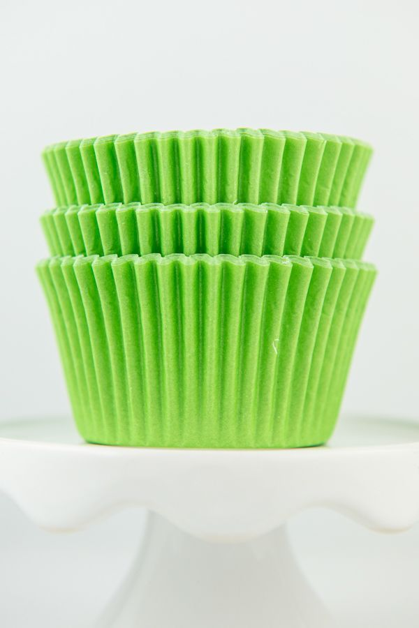 Solid Lime Cupcake Liners - Lime Green Baking Cups - Lime Green Greaseproof Cupcake Liners - Solid Lime Cupcake Cups