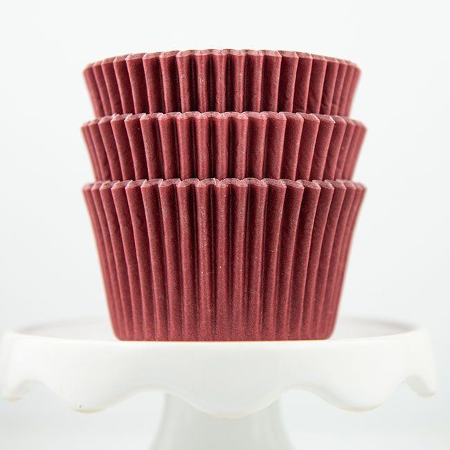 Solid Maroon Cupcake Liners - Maroon Baking Cups - Solid Color Cupcake Cups