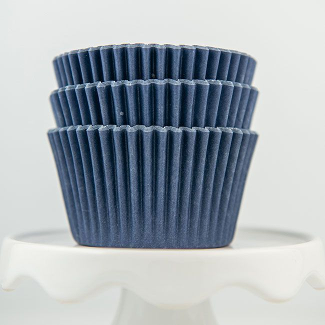 navy blue cupcake liners
