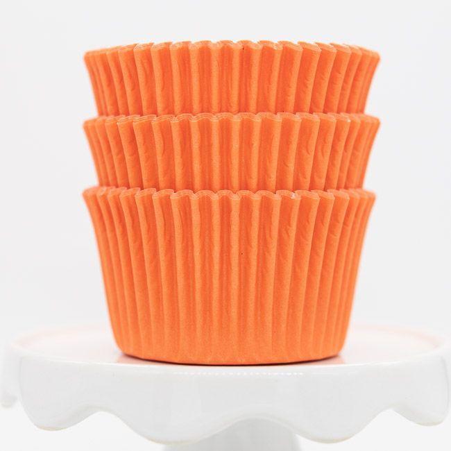 Orange Cupcake Liners   Bulk Orange Baking Cups, Solid Cupcake Cups