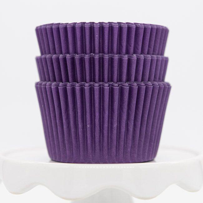Purple Cupcake Liners | Bulk Purple Baking Cups, Solid Cupcake Cups