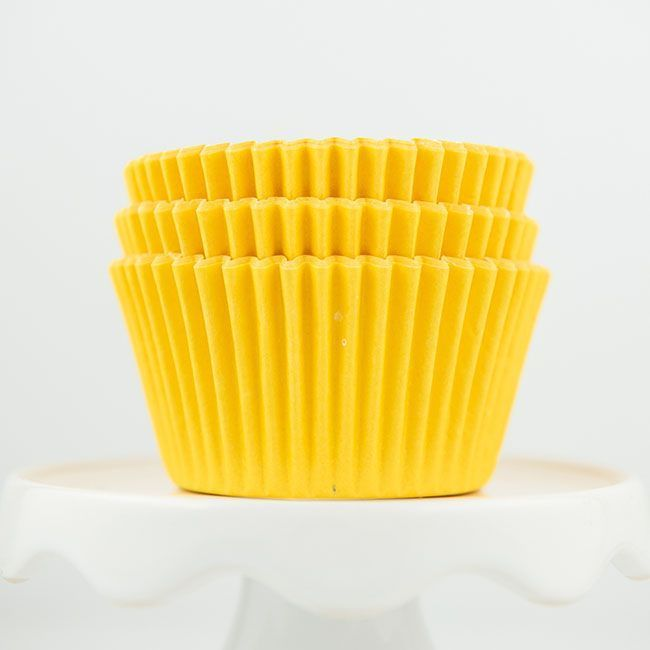 Solid Yellow Cupcake Liners - Yellow Baking Cups - Solid Color Cupcake Cups