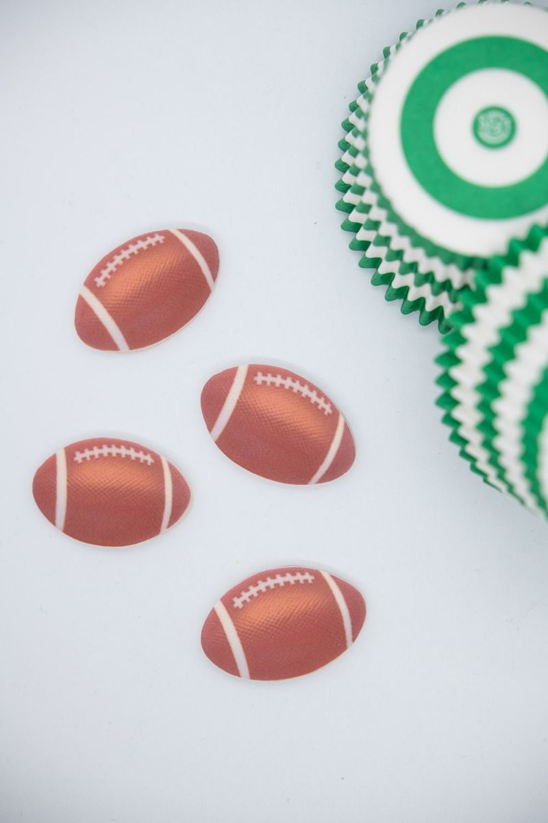Football Cupcake Toppers | Sports Edible Decorations for Cakes, Cupcakes, Cakesicles