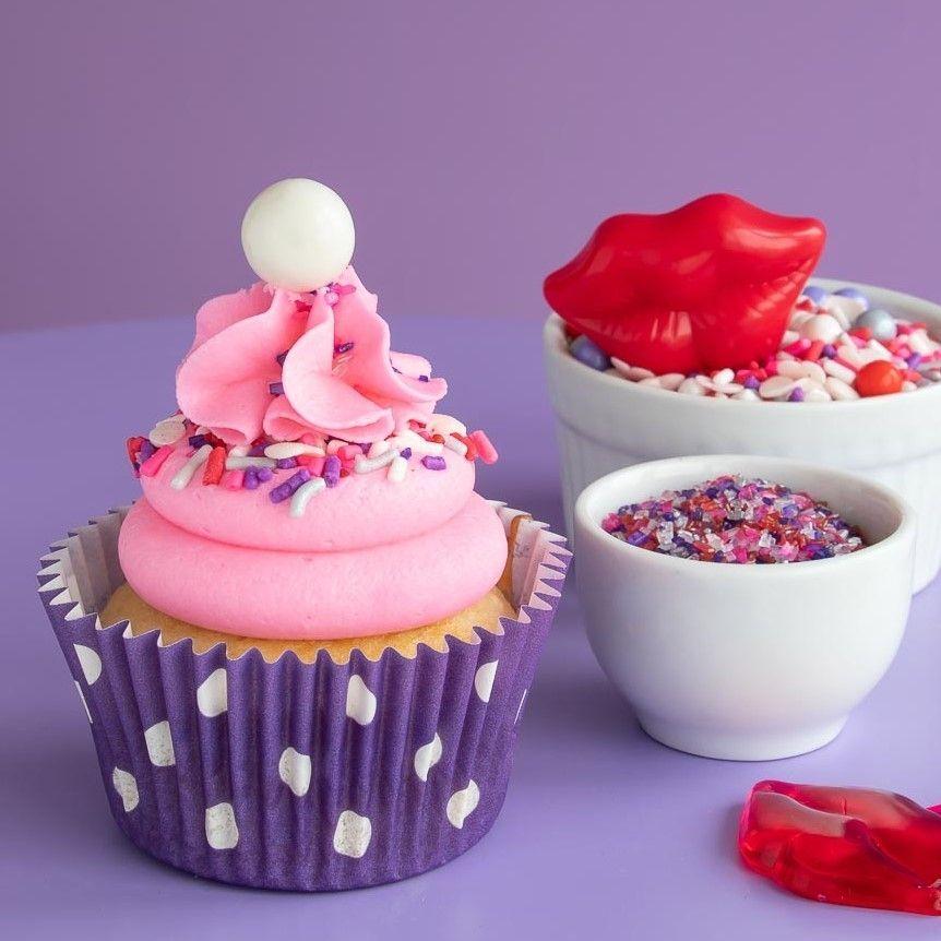 Polka Dot Purple Cupcake Liners - Purple Baking Cups - Polka Dot Cupcake Cups