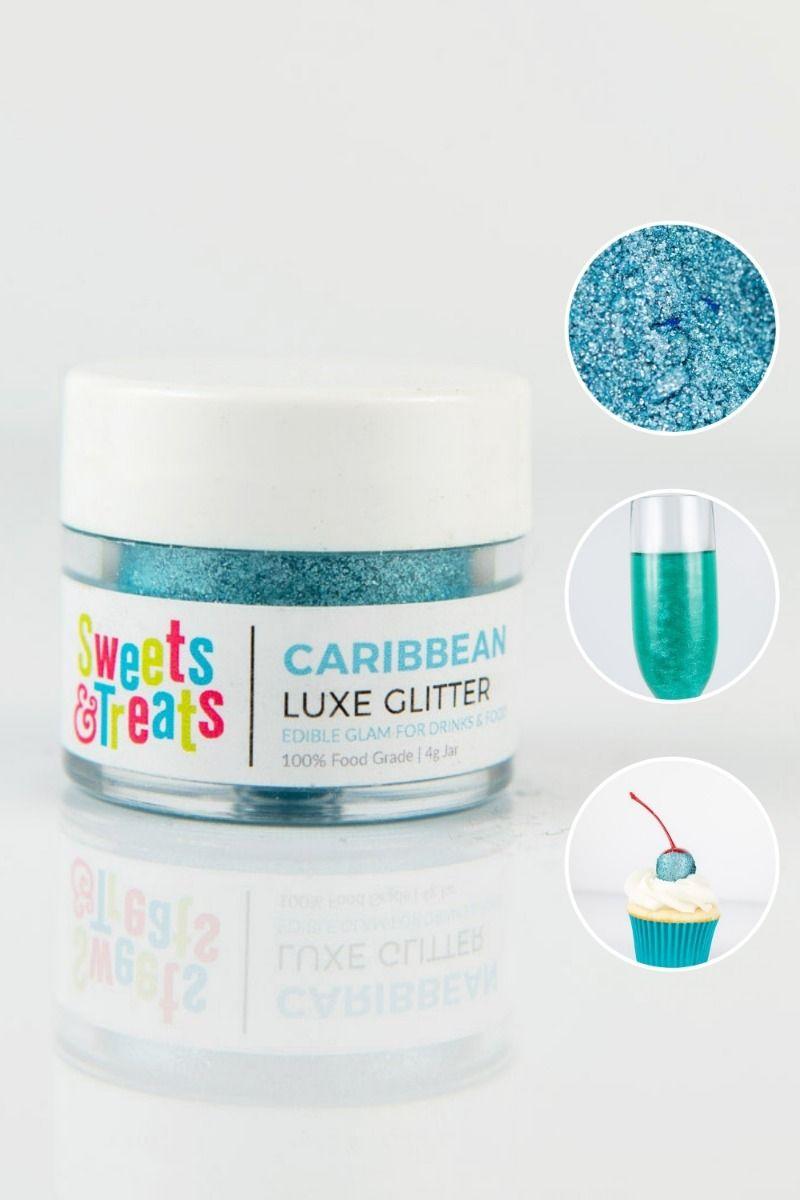 Aqua Teal Edible Glitter | Caribbean Luxe Edible Glitter for Drinks & Cake Decorating