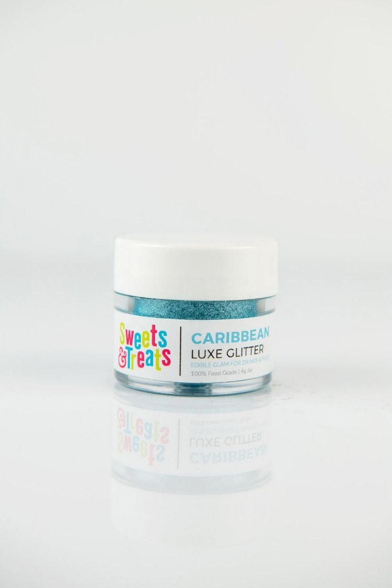 Aqua Teal Edible Glitter | Caribbean Luxe Edible Glitter for Drinks & Cakes