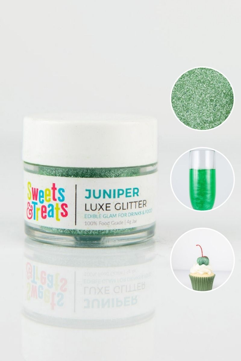 Dark Green Edible Glitter | Juniper Forest Luxe Edible Glitter for Drinks & Cake Decorating