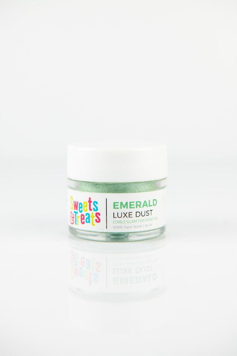 Green Luster Dust | Emerald Luxe Edible Luster Dust for Cakes, Cookies
