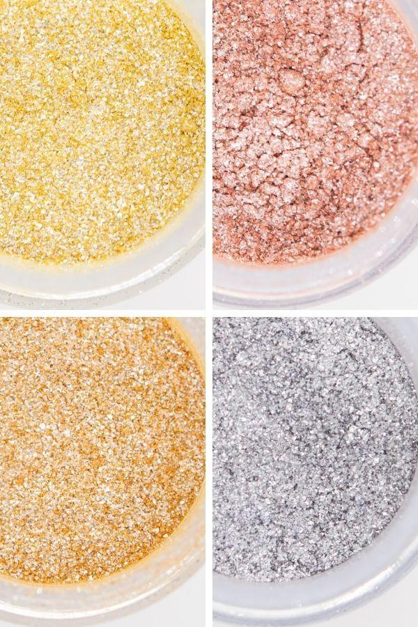Metallic Edible Glitter Set   Metallic Luxe Edible Glitter for Drinks & Cakes, Food, Dessert