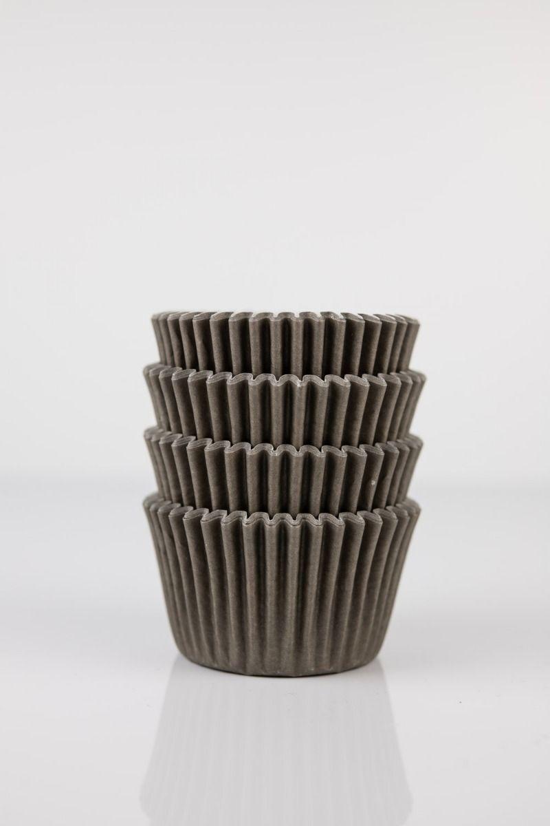 Brown Mini Cupcake Liners   Brown Midi Baking Cups, Greaseproof Wrappers Bulk