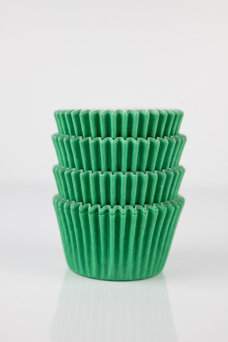 Green Mini Cupcake Liners | Kelly Green Midi Baking Cups, Greaseproof Wrappers Bulk