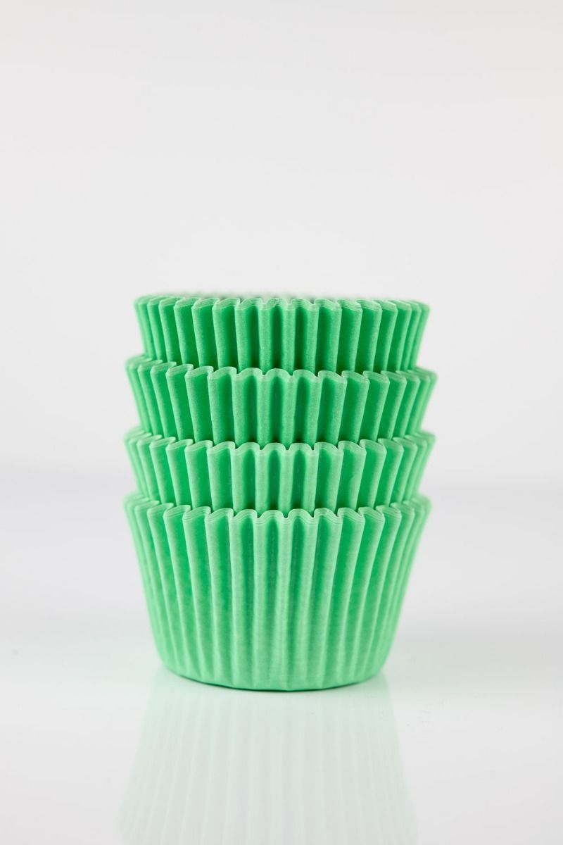 Light Green Mini Cupcake Liners | Mint Midi Baking Cups, Greaseproof Wrappers Bulk
