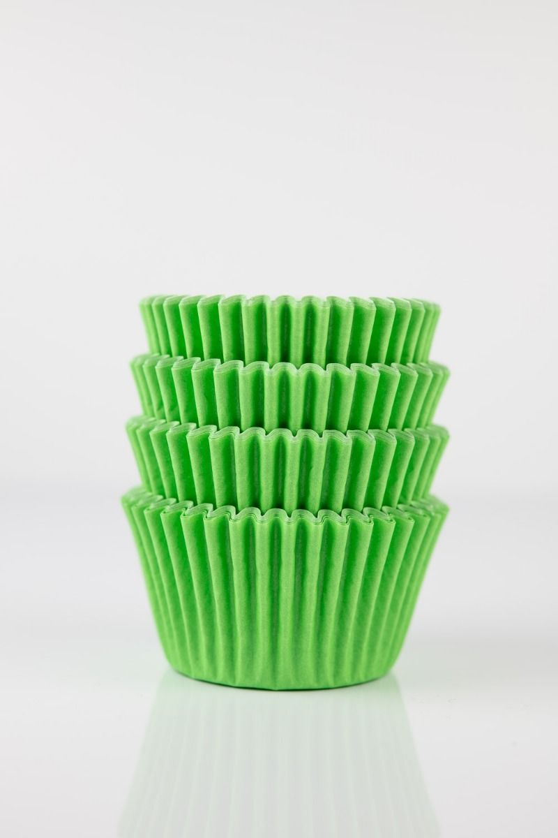Lime Green Mini Cupcake Liners   Lime Midi Baking Cups, Greaseproof Wrappers Bulk