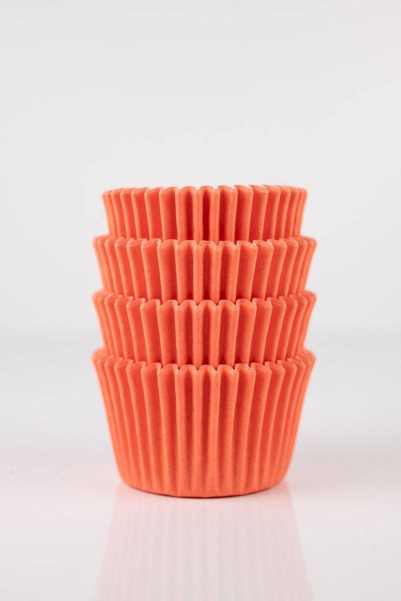 Orange Mini Cupcake Liners | Orange Midi Baking Cups, Greaseproof Wrappers Bulk