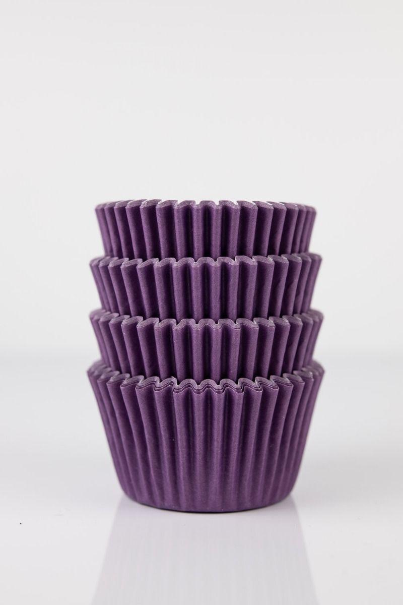 Purple Mini Cupcake Liners   Purple Baking Cups, Greaseproof Wrappers Bulk