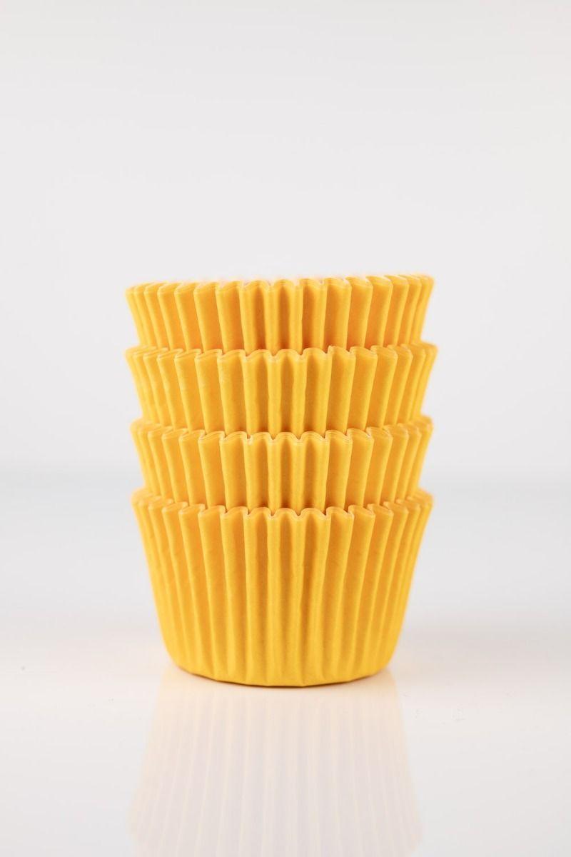 Yellow Mini Cupcake Liners   Yellow Midi Baking Cups, Greaseproof Wrappers Bulk