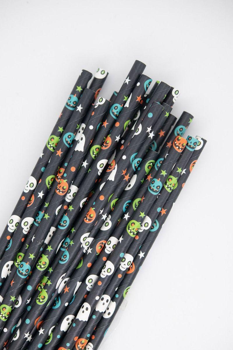 Halloween Paper Straws | Halloween Party Paper Drinking Straws