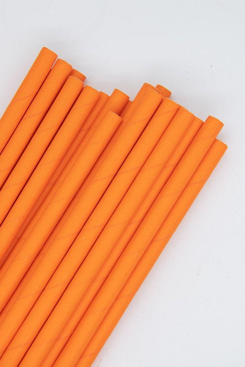 Solid Orange Paper Straws | Bulk Orange Paper Drinking Straws, Cake Pop Sticks