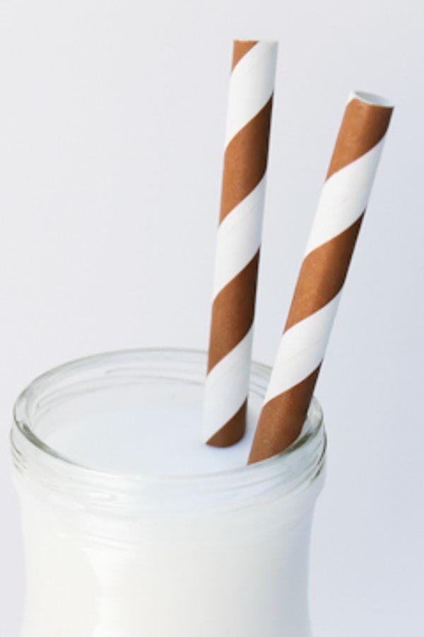 Brown Striped Paper Straws - Brown Paper Straws
