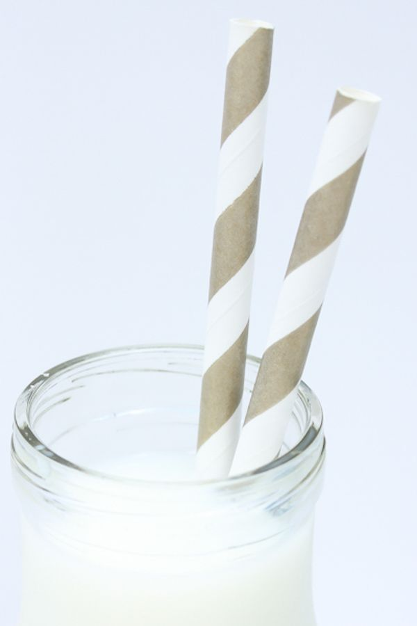 Gold Bronze Striped Paper Straws - Bronze Paper Straws